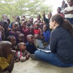 Nisha Ligon with kids in Nyange, Morogoro